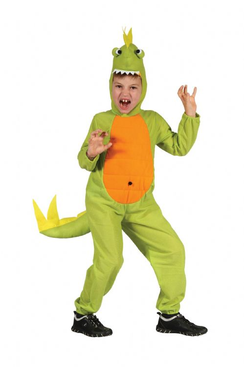 Childs Dinosaur Costume Prehistoric Jurassic Animal Fancy Dress Outfit